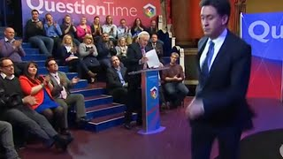 Watch: Ed Miliband trips off the stage