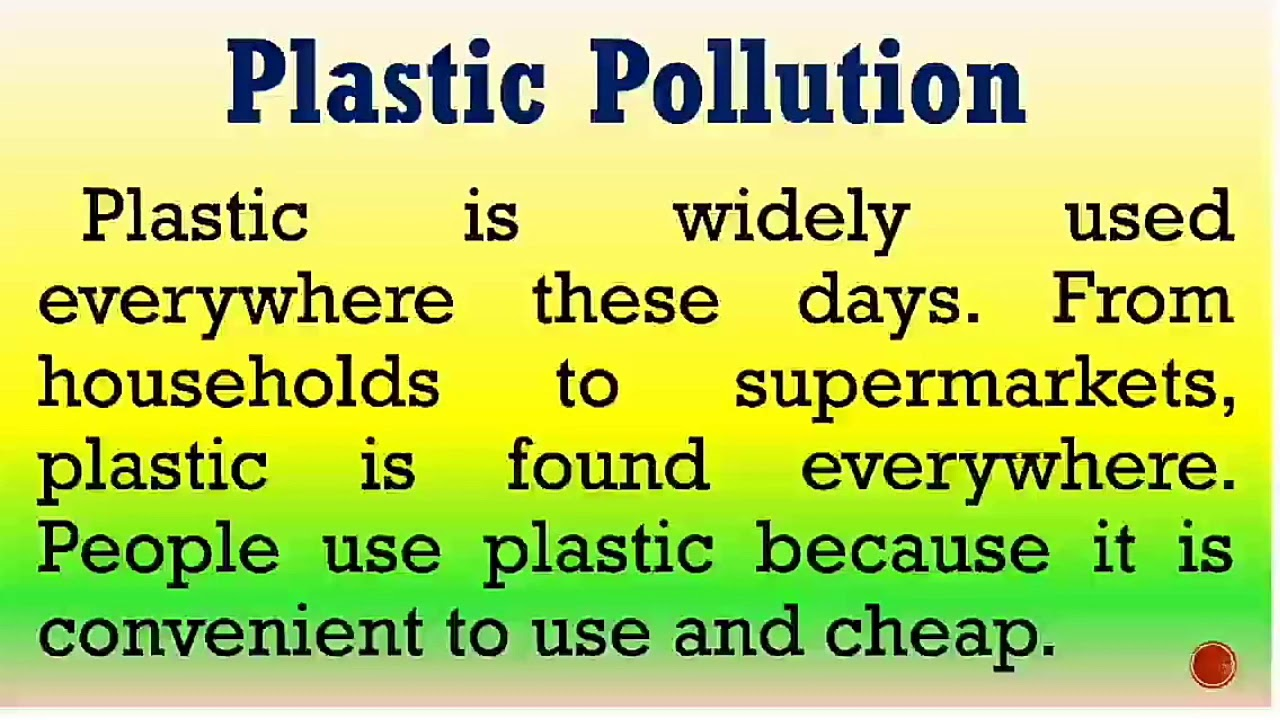 Download Essay on Plastic pollution in English by Smile please world