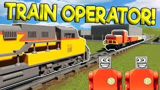 LEGO CITY TRAIN SIMULATOR CRASHES! - Brick Rigs Roleplay Gameplay - Lego Train Crashes