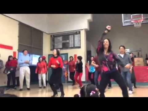 Zumba dance Pomona Chinese school