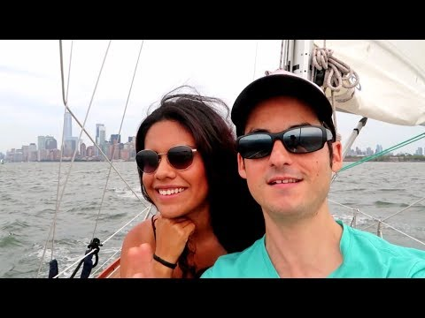 LEARNING TO SAIL on the Hudson River ! (Things To Do In NYC)