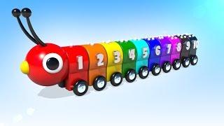 Мультики для малышей Цветная Гусеница Учимся считать Учим цифры и цвета
