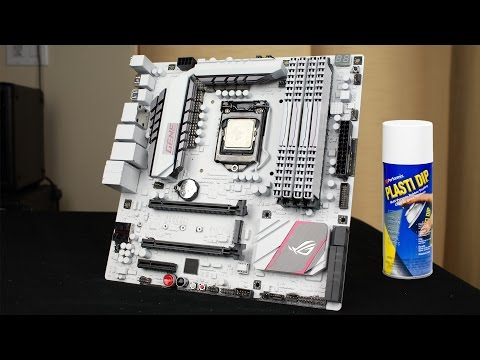 PAINT A MOTHERBOARD (PLASTIDIP) - GUIDE