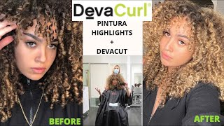 NEW HAIR! Getting Pintura Highlights + DEVA CUT | Tala Othman