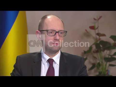 UKRAINE PM YATSENYUK - RUSSIA INVASION POSSIBLE