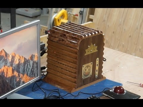 "DIY Wooden PC Case w/""Cooling"" Fins"