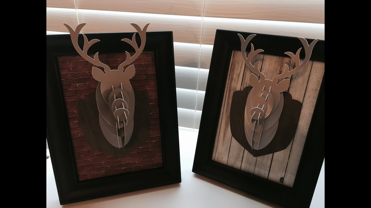 Cricut Explore 3d Deer Decor Youtube