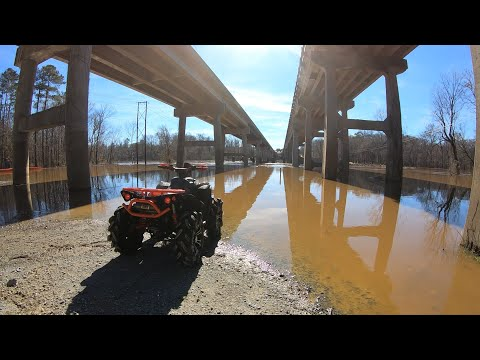 Cape Fear Atv is FLOODED (River Crossing)