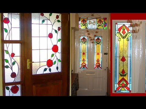 Beautiful Glass Painting Doors Painted Glass Doors Ideas