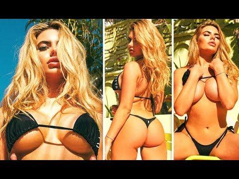 6502b70d7e7 Love Island 2018 Megan Barton Hanson's ample a ssets SPILL OUT of eye  popping bikini snaps