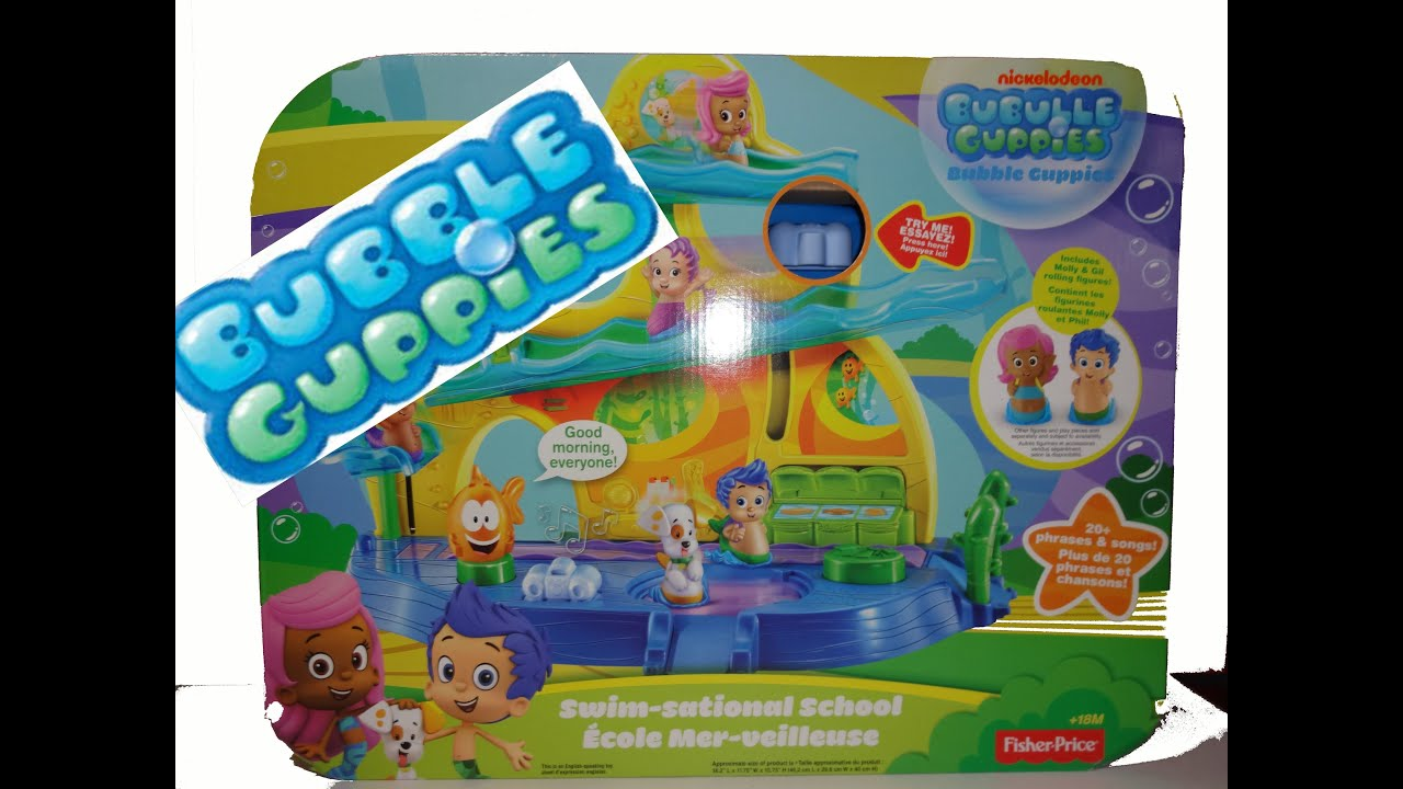 Bubble Guppies Unboxing Swim Sational School Fisher Price Bubulles