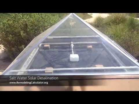 Salt Water Solar Desalination - ZERO Energy