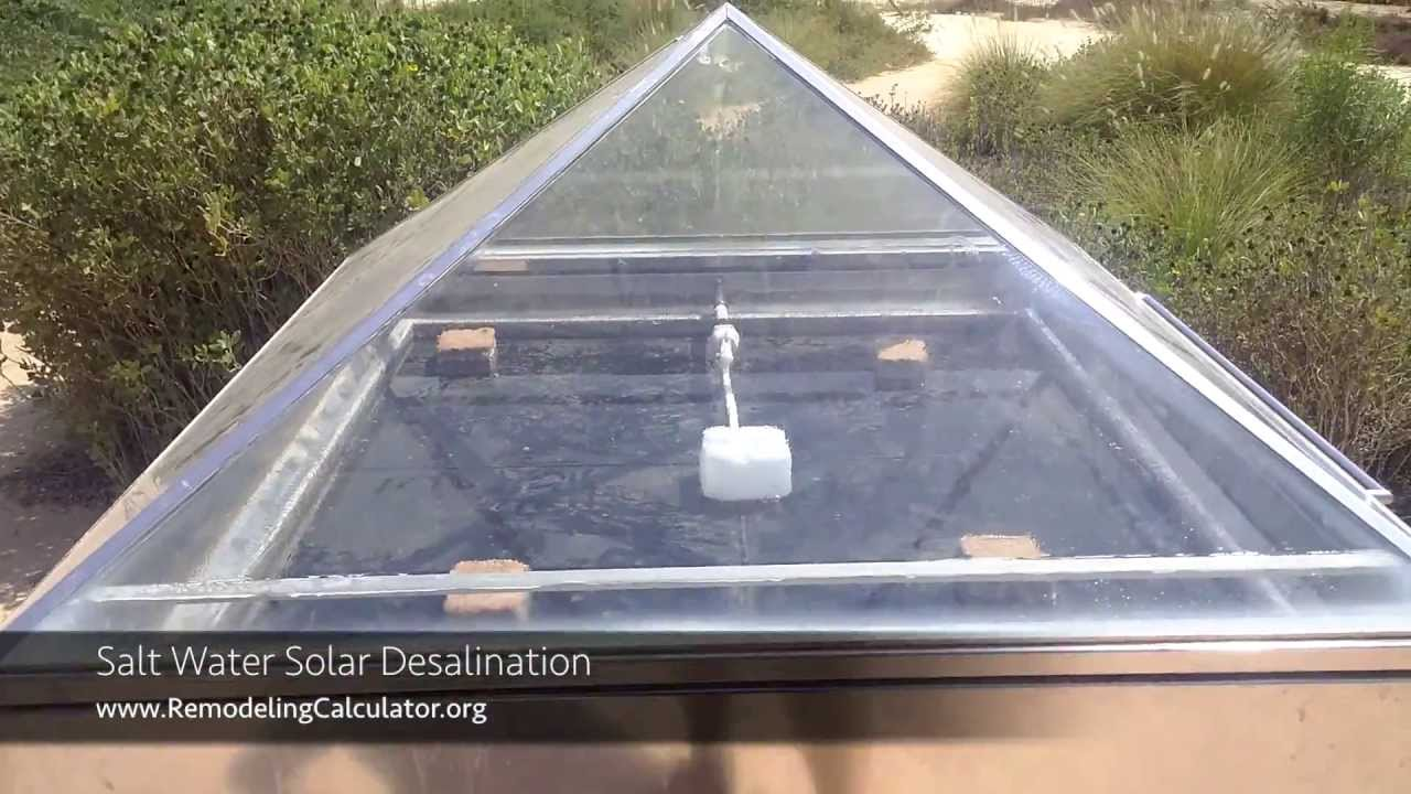 Salt Water Solar Desalination - ZERO Energy