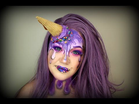 Melted Ice Cream Halloween Makeup Tutorial