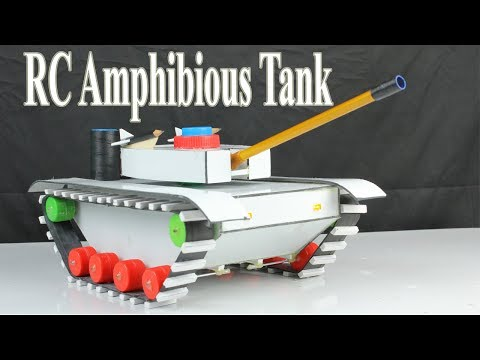Amazing ! How to make a RC Battle Tank - Diy Amphibious  Tank
