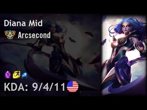 Diana Mid vs Jayce - Arcsecond - NA Challenger Patch 7.1