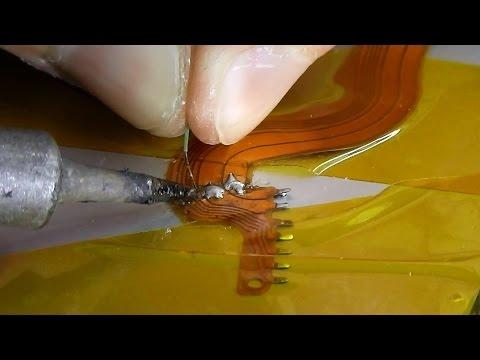После удара порван шлейф / Восстановление шлейфа и сборка. Объектив Canon EF 50mm f/1.8 II