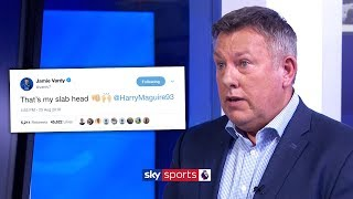 Craig Shakespeare reacts to Leicester players calling Harry Maguire 'Slab Head'