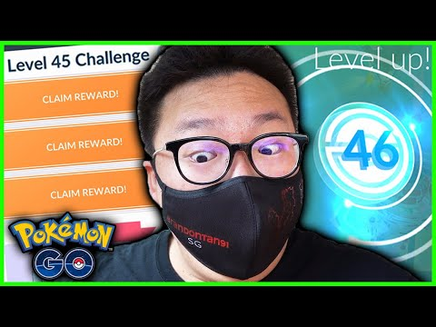 I HIT LEVEL 46 WHILE COMPLETING A HUGE MISSION IN POKEMON GO