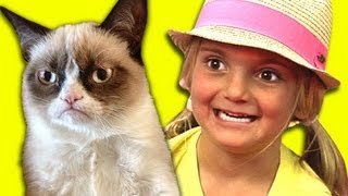 KIDS REACT TO GRUMPY CAT