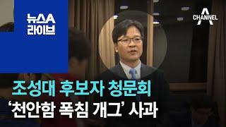 조성대 선관위원 후보자 청문회…'천안함 北 폭침 개그'…