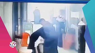 صور متداولة للحظة اندلاع الحريق في مستشفى ابن الخطيب في بغداد │ أخبار العربي