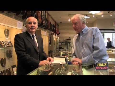 Wally gets his watch appraised at Suffolk Jewelers & Pawnbrokers