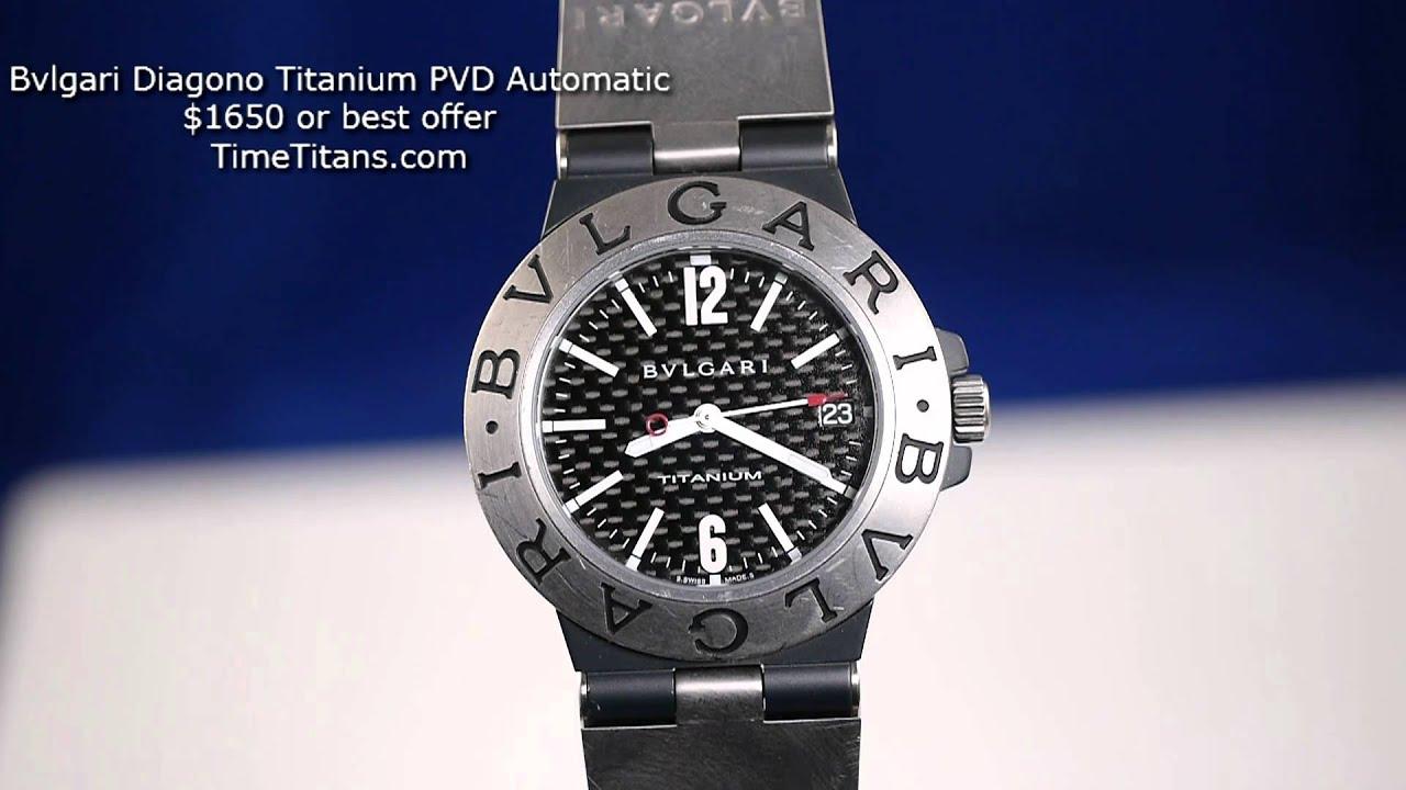 f7cf8752f2b BVLARGI BULGARI Diagono Automatic Carbon Titanium PVD - YouTube