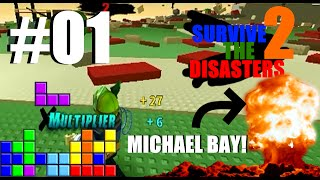 ROBLOX: Survive the Disasters 2 #01 ''Michael Bay en Tetris''