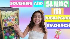 SQUiSHiES + SLiME IN BUBBLEGUM MACHiNES! SQUiSHY HUNTiNG AT RANDOM PLACES!