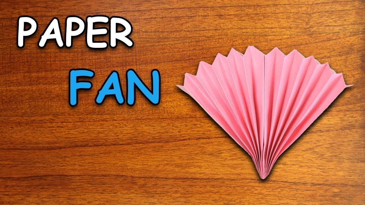 Origami Tutorial - How to Fold an Origami Fan Easy - Crafts for ... | 720x1280