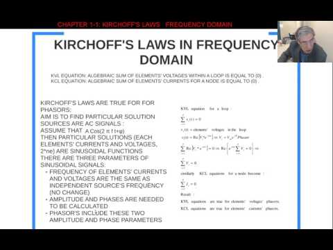Chapter1-2 Kirchff Laws in frequency domain