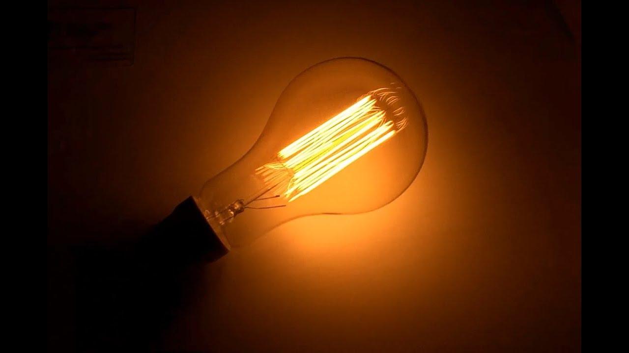 лампочка Эдисона для лофт стиля в лофт светильники - YouTube