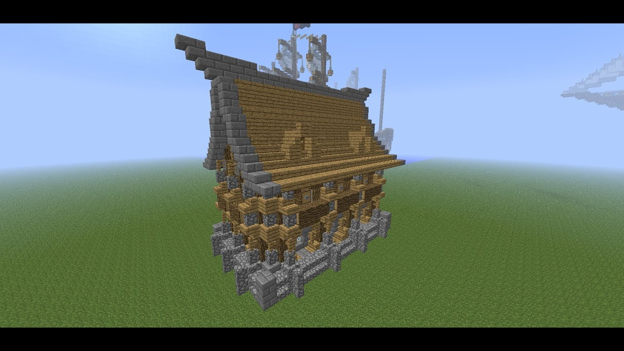 Minecraft Medieval Detailed House Tutorial How To Build A House YouTube