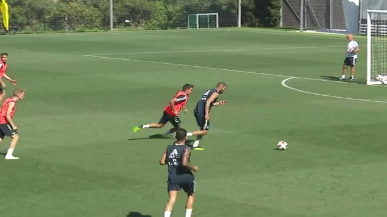 Benzema en pleine forme à l'entrainement