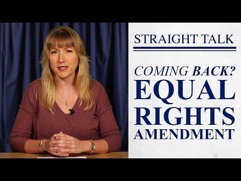 Is Equal Rights Amendment Back?