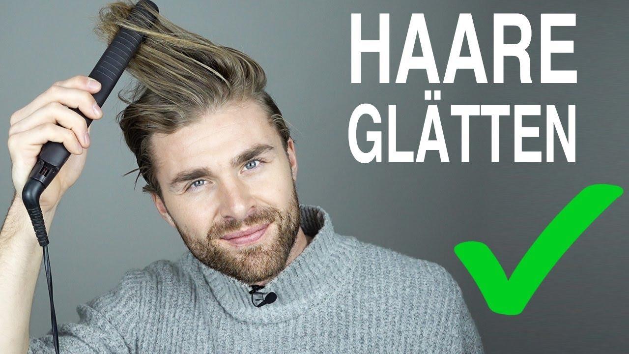 Glätteisen Richtig Benutzen Haare Glätten Männer Mit Haarglätter