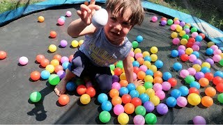Learn colors with baby and colorful balls pit for Children and Toddlers