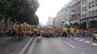 SLEZSKÝ FC OPAVA pochod městem vítěz FNL