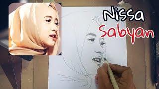 Video Menggambar wajah NISSA SABYAN tanpa penghapus download MP3, 3GP, MP4, WEBM, AVI, FLV Juli 2018