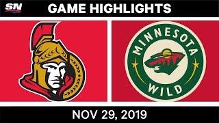 NHL Highlights   Senators vs. Wild – Nov. 29, 2019