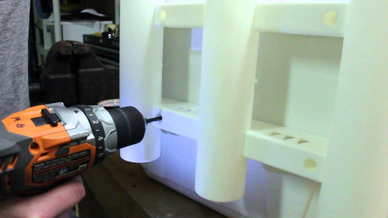 DIY Rod Holder Cooler - YouTube