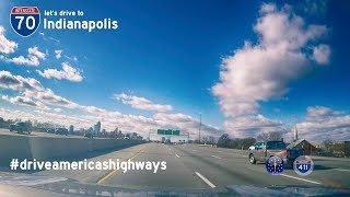 Interstate 70 - Mile 156 - Mile 80 - Indiana | Drive America's Highways 🚙