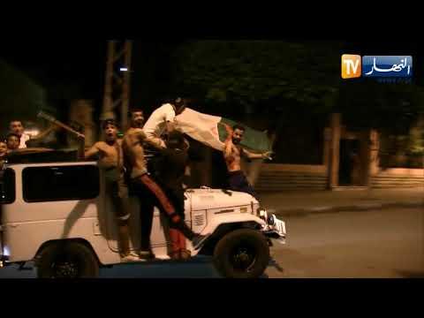 الشلف: إحتفالات عارمة وسط الأحياء والشوارع عقب فوز المنتخب الوطني بكأس إفريقيا