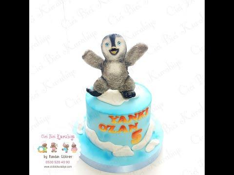 Happy Feet Cake Tutorial