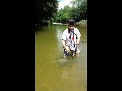 Smallmouth bass fishing in Indiana
