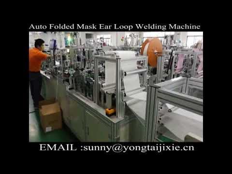 Fully automated folding type dust mask making machine,folding type mask  machine