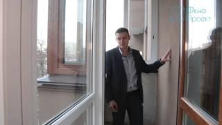 Балкон с раздвижными окнами обзор от компании Окна Проект