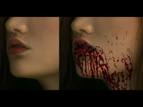 How to paint blood in photoshop thumbnail