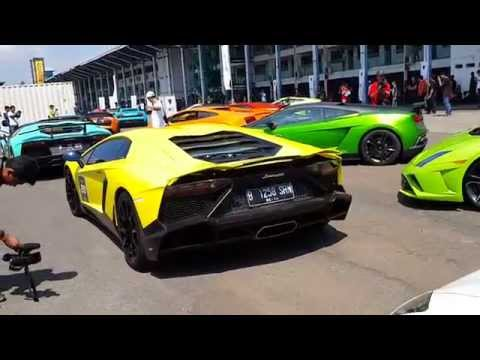 44 Lamborghini Jakarta INSANE SOUND !!